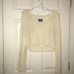 Crop top sweater with cut outs
